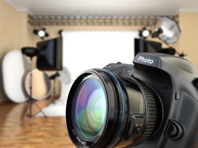 写真スタジオ風景